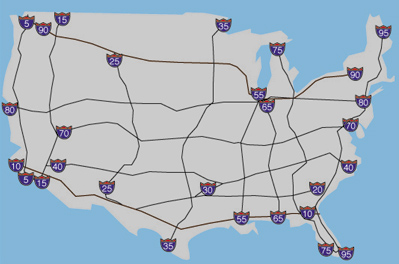 Mixed Numbers Interstate Highway Codes