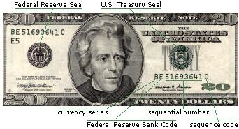 Diagram Of Elements On A Twenty Dollar Bill